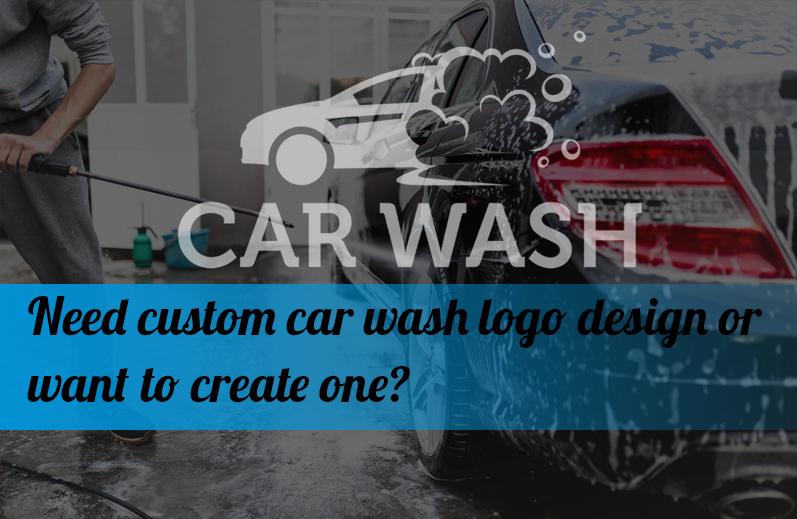 Need custom car wash logo design or want to create one?